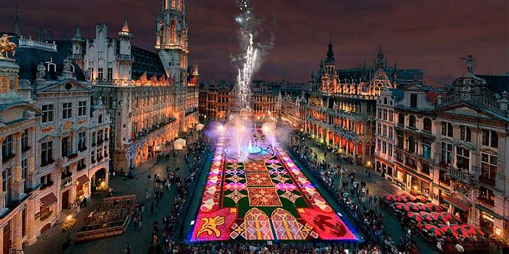 Цветочный ковер Брюсселя