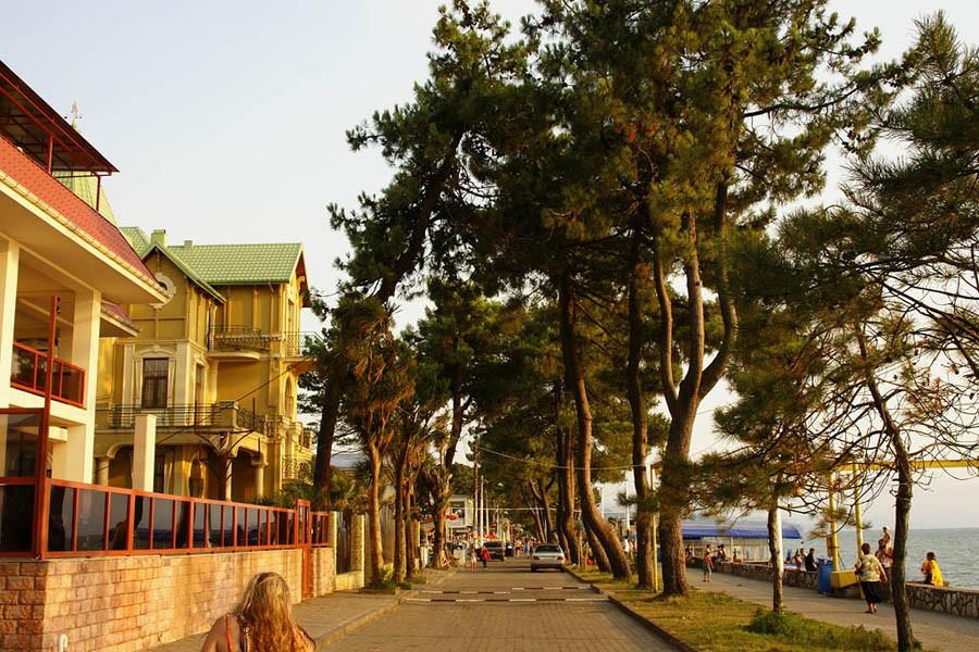 Грузия, Кобулети (автобус). Отель «ТЕТРИ ЕТЛИ»