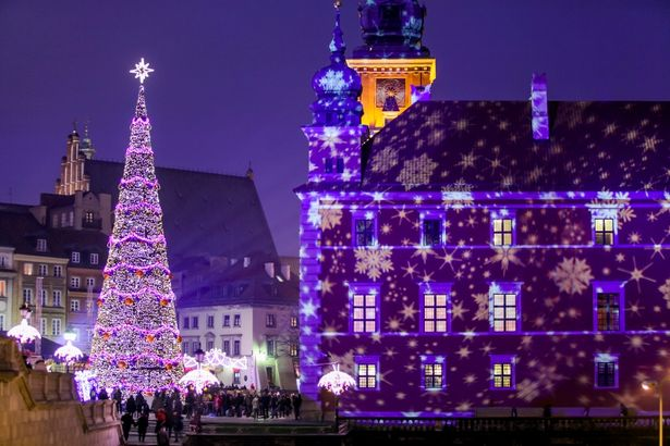 Сияние Новогодней Варшавы