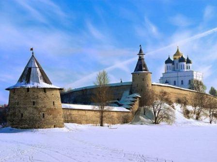 Старый Псков на Рождество